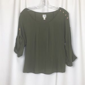 Anthropologie, adjustable sleeve top, XS, EUC.